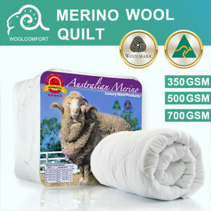 Aus Made Merino Wool Quilt Duvet Doona Summer/Winter All Size 350/500/700 GSM