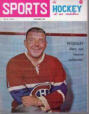 1963 (Sep.) Sports Le Hockey Magazine, Gump Worsley, Montreal Canadiens ~ VG