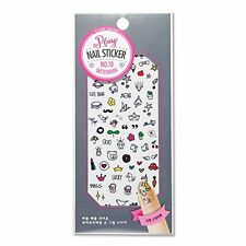 Etude House Play Nail Sticker [Water Free Decal] #10 Sketchbook, Korean Nail Art