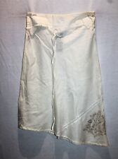 Caroline Morgan Brand Women's Ivory Cotton Embroidered Skirt Size M BNWT #TM98