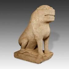 RARE CHINESE ANTIQUE MYTHOLOGICAL GUARDIAN FOO LION STONE SUNG DYNASTY CHINA