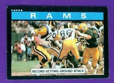 1985 Topps Football Card #77 Rams -Record Setting Ground Attack 1984 Team Result