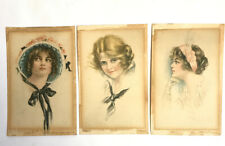 More details for antique painted by pearle fidler lemunyan edward gross american girl postcards