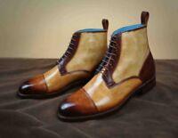 Men's Patina Ankle Boots handmade custom leather jodhpur boots for men