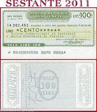 BANCA CATTOLICA DEL VENETO Lire 100 22.3. 1976 ASSOC. COMMERCIANTI TREVISO B15