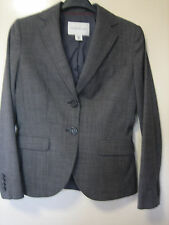 A LOVELY WOMENS BANANA REPUBLIC STRETCH 2P GREY JACKET  SIZE 8 (  LQQK ) BUTTONS