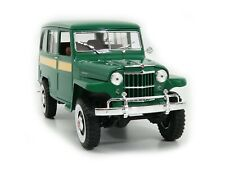 1955 Willys Jeep Station Wagon Green 118 Scale By Road Signature 92858