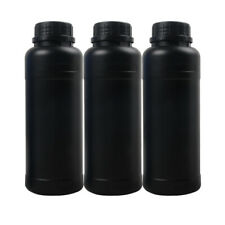 3X 500ml Darkroom Chemical Storage Bottles With Caps Film Developing Processing