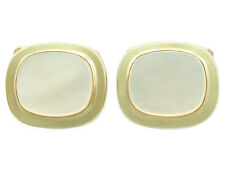 Vintage Mother of Pearl 14Carat Yellow Gold Cufflinks - Circa 1960