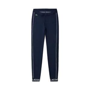 Lacoste Women's Slim Stretch Leggings Size M In Marine Blue RRP£110
