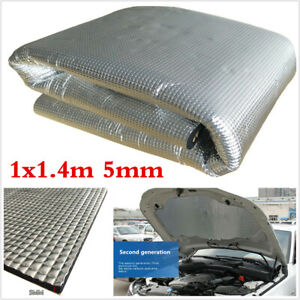 5mm Car Hood Engine Heat Mat Sound-Absorbing Pad Shield Noise Insulation 1mx1.4m