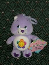 "Care Bear 5"" clip * HARMONY BEAR * PURPLE * New With Tags *2003* RARE *RETIRED"