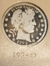 1909-O Scarce Barber Quarter VG/F