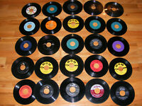 "Lot of 25 45 rpm COUNTRY ROCKABILLY 7"" Vinyl Singles Records 1950s 1960s Hank W"