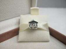 New w/Box & Tags Pandora Dog House Charm #790592EN27 Puppy Doggy Love