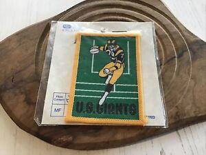 Retro American Football Sew On Patch. 5 x 7cm. 'U.S. Giants'