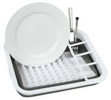 New Creative Kitchen Oblong Washing Up Dish Drainer Plate Rack Collapsible