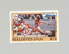 Maldives #1751 Olympics, Track & Field 1v Imperf Proof