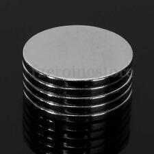 5 Piezas Imán Imanes De Neodimio NdFeB Disco 20 x 2 mm Magnet Envío Fuerza N50