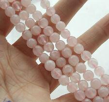 Natural 6mm Pink Quartz Round Loose Beads Gemstone 15'' T-45