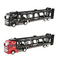 2x 1:50 Jouet de Camion Remorque Alliage Moulé Sous Pression Pull Back Carrier