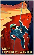 Mars Explorers Wanted NASA Awesome Space Poster