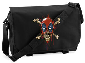 Deadpool Zombie Crossbones Mash Up Messenger Bag