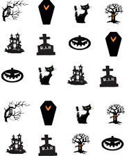 Halloween  Silhouettes Waterslide Nail Decals/Nail art