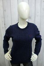 RALPH LAUREN Taglia L Maglione Blu Donna Sweater Lana Pullover Pull Casual Woman