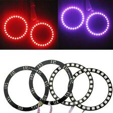 4PCS Latest Multi-Color RGB 5050 SMD LED Angel Eyes Halo Ring Bulbs Remote kit