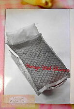 Vintage Knitting Pattern Blankets 4 Styles Pram / Cot Cover Travel Rug Afghan