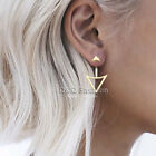 Blogger Arrow & Triangle 2 Part Threader Swing Ear Jackets Bar Studs Earrings H9