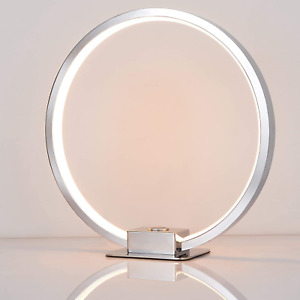 SPARKSOR Circle Shape LED Table Lamp,Dimmable Touch desklight,Round Aura Shape a