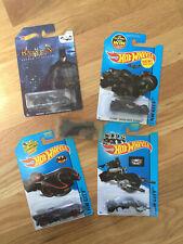 Batmobile Hotwheels lot of 5: Arkham, batpod, '89 (Burton) Batman V Superman