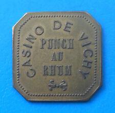 "Auvergne 03 Allier Vichy , casino , jeton ""PUNCH AU RHUM""  laiton 25 x 25mm"