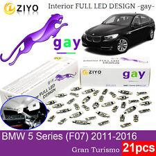 21 Bulbs LED Interior Light Kit Xenon White For F07  BMW 5 Series Gran Turismo