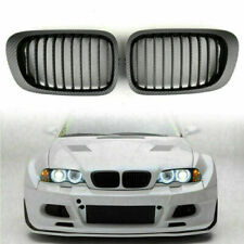 Front Kidney Hood Grill Grille Carbon Fiber Style For BMW E46 2D Coupe 98-02 TR(Fits: M3)