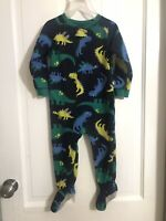 Fleece Footed Carters Sleeper Pajama Size 2T Infant Toddler Boys Dinosaurs Print