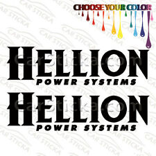 """2 of 8"""" Hellion Power Systems /A aftermarket performance car stickers decals"""