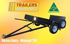 8x5 GOLF CART TRAILER - TILTING FUNCTION WITH RAMP -