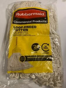 Rubbermaid #24 Looped End Mop Head Refill Replacement Floor Cleaner String Yarn