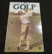 1990 Mercedes Benz The World of Golf Calendar Arnold Palmer Tom Watson
