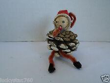 Vintage 1950's  Chenille Elf Christmas Ornament