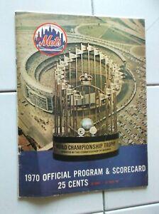 1970 NY Mets Program & Scorecard vs Chicago Cubs Shea Stadium Used Baseball Used