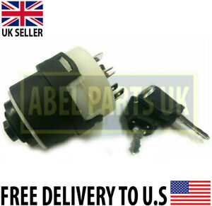 JCB PARTS - IGNITION SWITCH WITH 2 KEYS FOR VARIOUS JCB MODELS (701/80184)