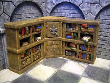 Bookshelves #3 /w Cupboard Thomarillion Unpainted Resin Dwarven Forge D&D
