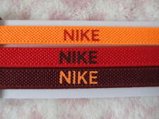 Nike Elastic Hairbands 3 PK Bright Citrus/University Red/Team Red New