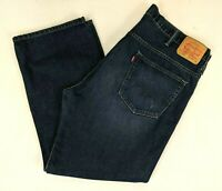 Levis Men's 569 Loose Straight Leg Jeans - Dark Wash - Size 40 x L28