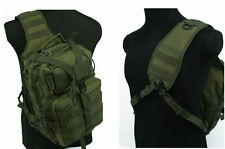 Outdoor Utility Tactical One Shoulder Backpack Bag Sling Hunting Pouch Bag Green