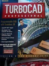 TurboCAD Version  2D/3D CAD Software IMSI Windows 95 CIB BOOKS & BOX ONLY!!